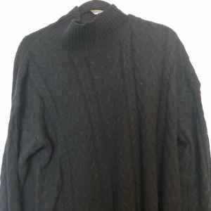 Joe Fresh Womens Black Wool Knit Sweater SZ L